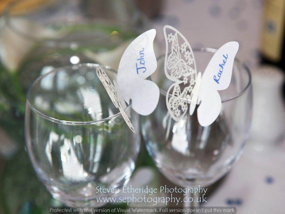 Hampshire Wedding Photography - wedding breakfast place names