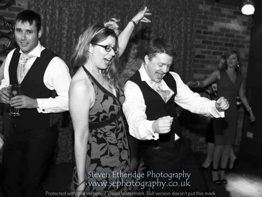 Hampshire Wedding Photography - guests dancing the night away