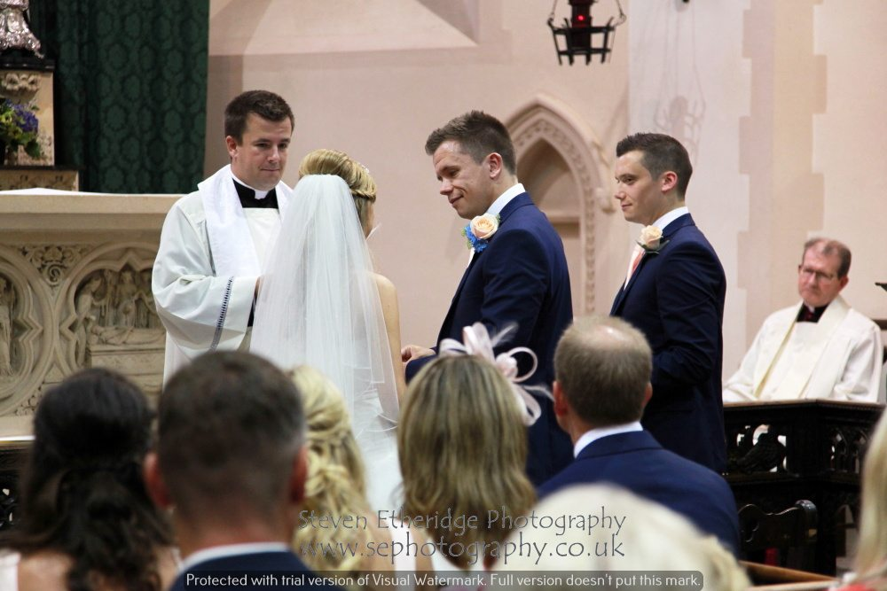 Surrey Wedding Photographer - church service vows