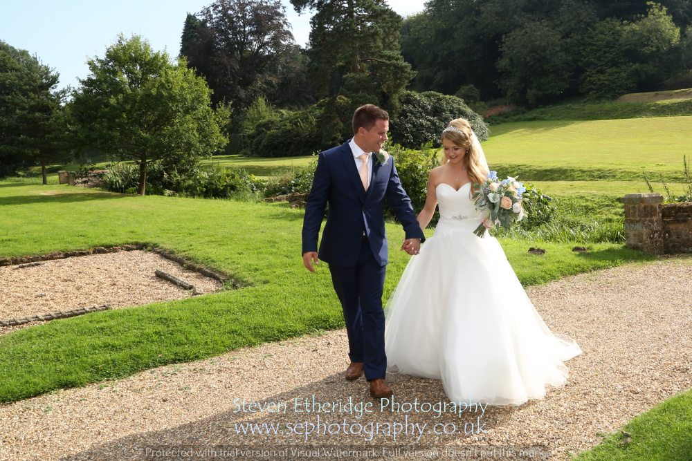 Surrey Wedding Photographer - bride and groom candid photo