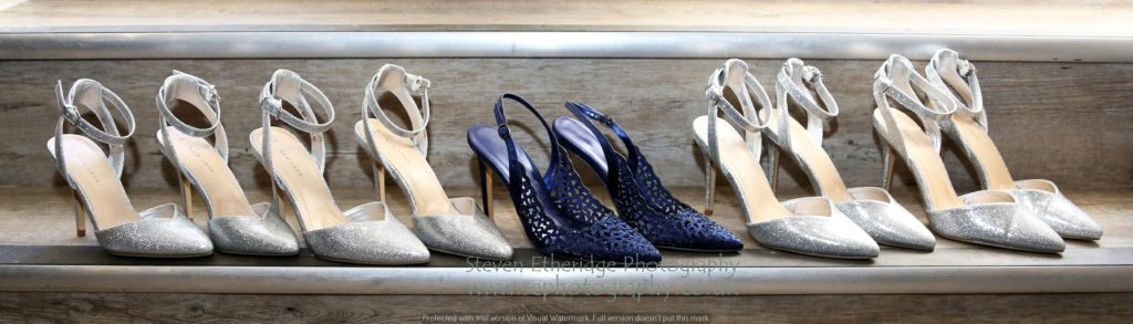 Hampshire Wedding Photographer - bride's and bridesmaids' shoes