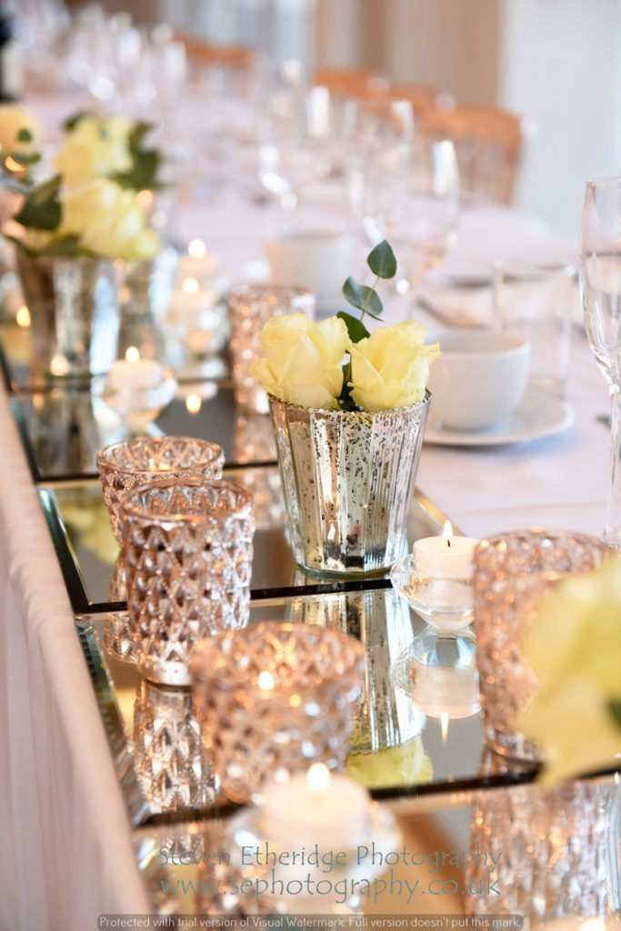 Hampshire Wedding Photographer - table decorations