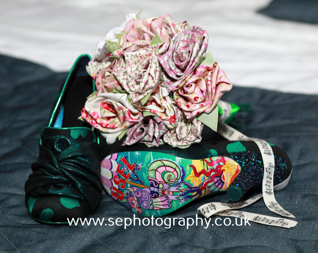 Surrey Wedding Photographer - custom bridal shoes