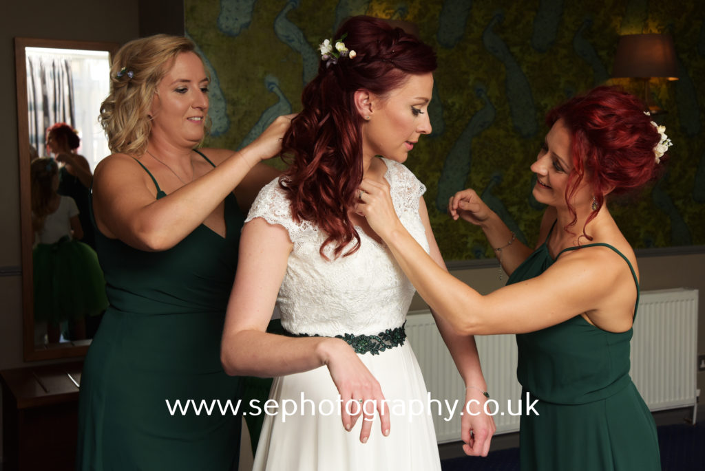 Surrey Wedding Photographer - bride and bridesmaids
