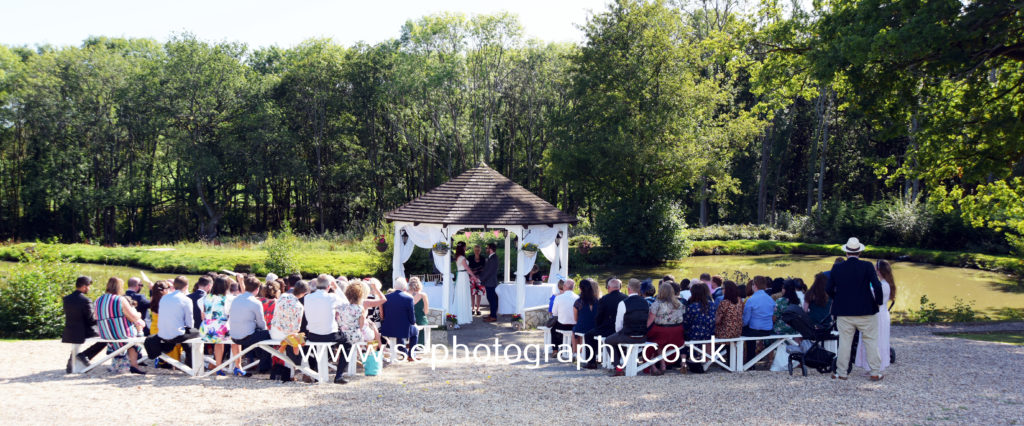 Surrey Wedding Photographer - outdoor ceremony