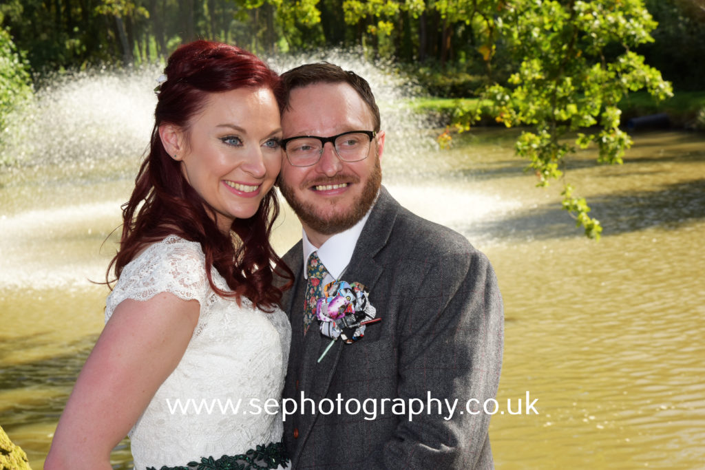 Surrey Wedding Photographer - bride and groom portrait