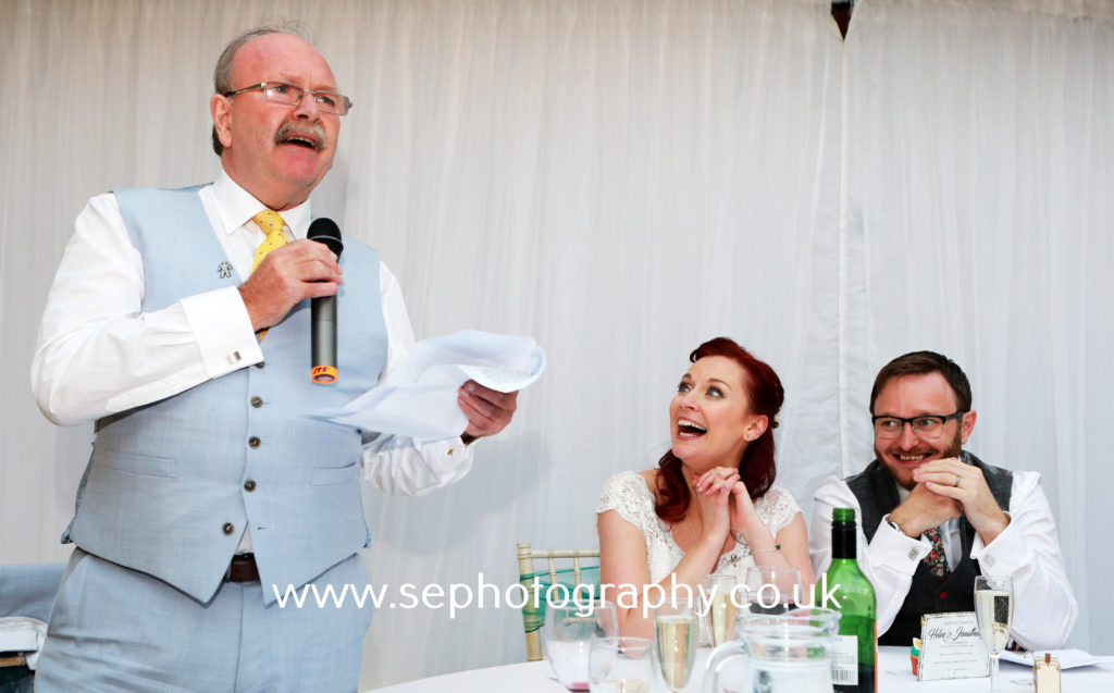 Surrey Wedding Photographer - father of the bride speech